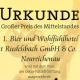 """Als bisher einziger gastronomischer Betrieb in Bayern erhielt das 1. Bier- und Wohlfühlhotel Gut Riedelsbach, Neureichenau, eine Auszeichnung im Rahmen des bundesweiten Wettbewerbs """"Großer Preis des Mittelstandes""""."""