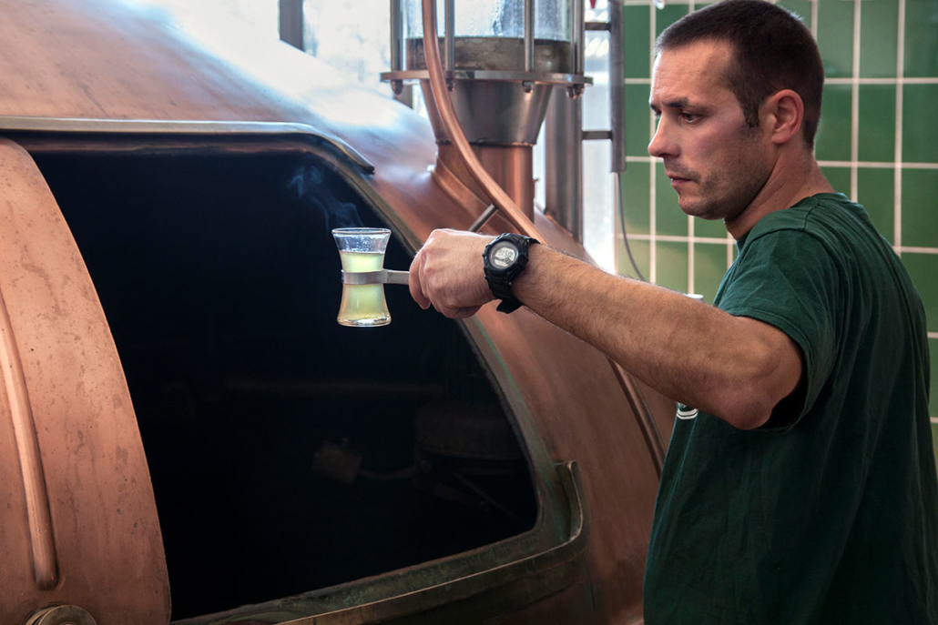Experience how our beer is made in an entertaining way during a guided tour of the brewery.