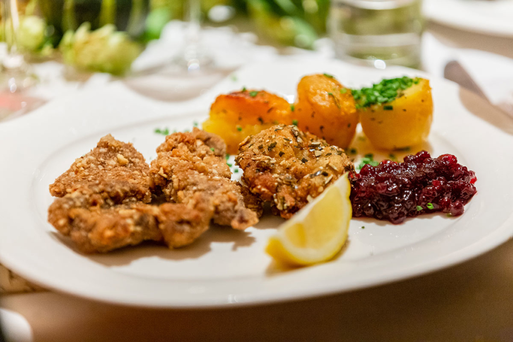 Game dishes are widely appreciated specialities at Gasthof Vitzthum